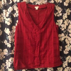 J Crew Factory like new red v-neck sleeveless top